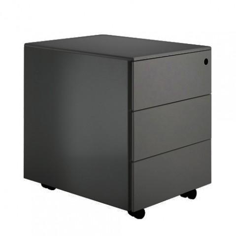 element rangement cassettiera c3 la palma laque noir