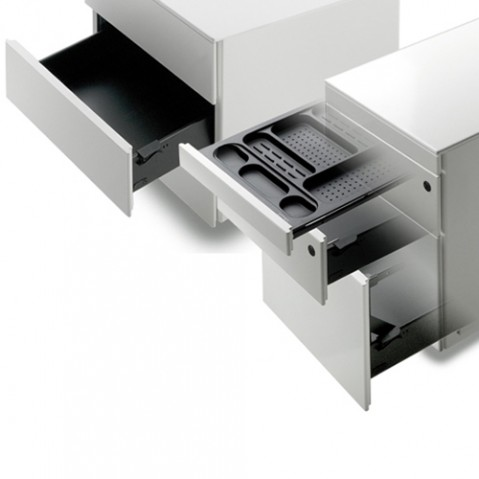 element tiroirs cassettiera c3 la palma blanc laque