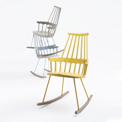 rocking chair comback kartell rouge