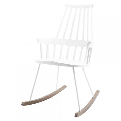 rocking chair comback kartell blanc