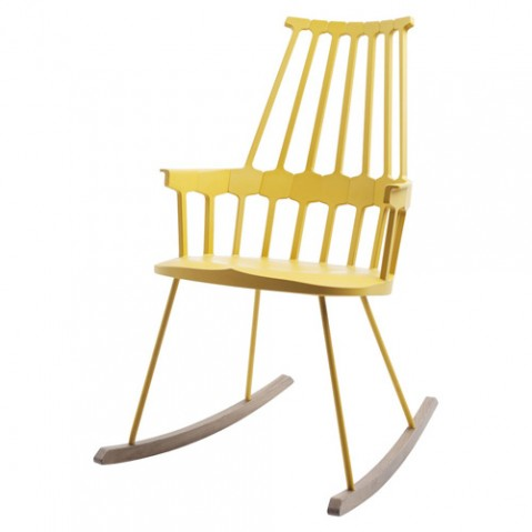 ROCKING CHAIR COMBACK DE KARTELL, JAUNE