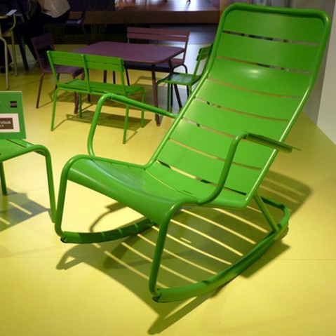 rocking chair luxembourg fermob muscade