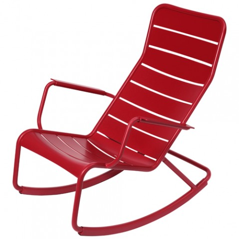 rocking chair luxembourg fermob coquelicot