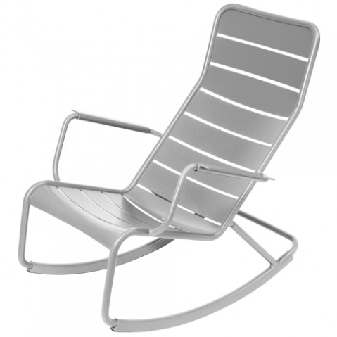 rocking chair luxembourg fermob gris metal