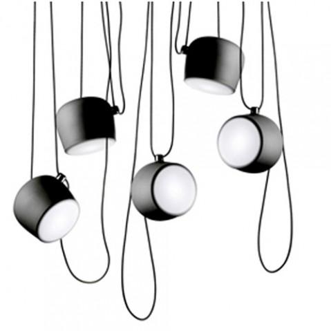 suspension rosace multiple led aim noir jusqu 39 5. Black Bedroom Furniture Sets. Home Design Ideas
