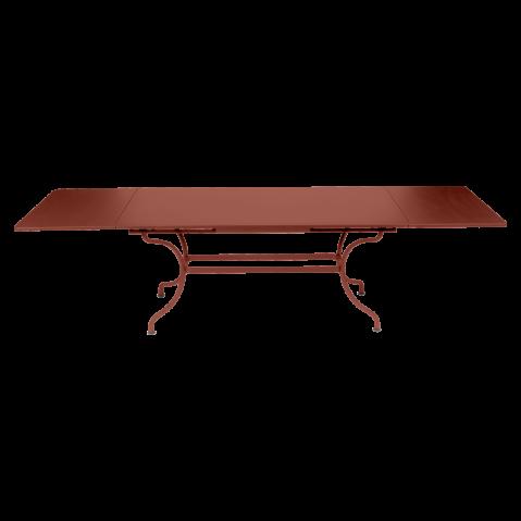 TABLE A ALLONGE ROMANE, Ocre rouge de FERMOB