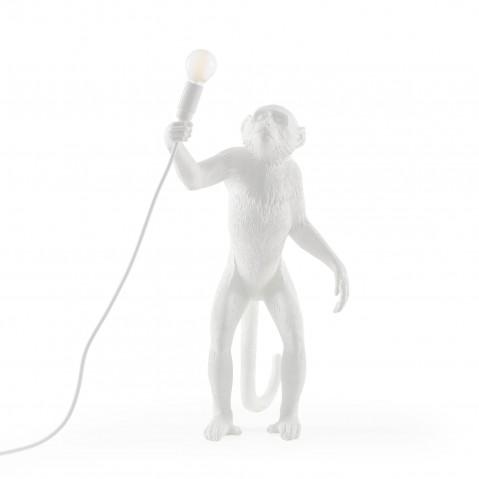 LAMPE A POSER MONKEY STANDING, Blanc de SELETTI