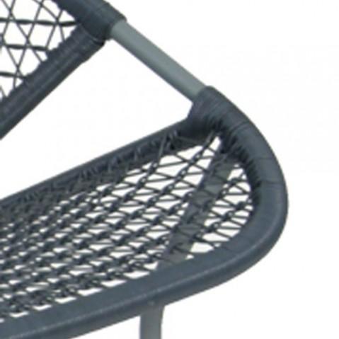 sixties banquette design fermob gris orage ardoise