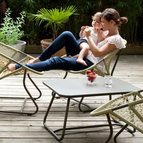 sixties fermob table basse piment d espelette