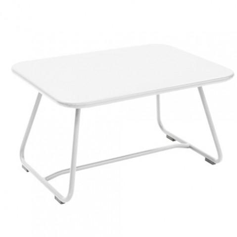 sixties fermob table basse blanc coton