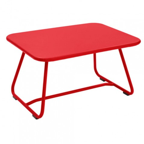 sixties fermob table basse coquelicot