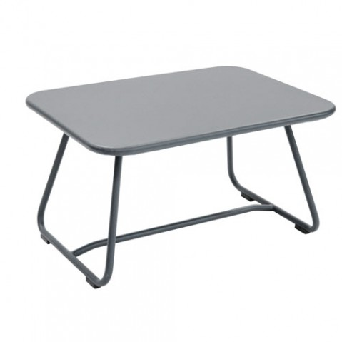 sixties fermob table basse gris orage
