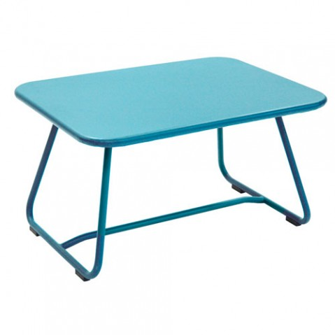 sixties fermob table basse turquoise
