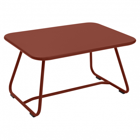 TABLE BASSE SIXTIES, Ocre rouge de FERMOB