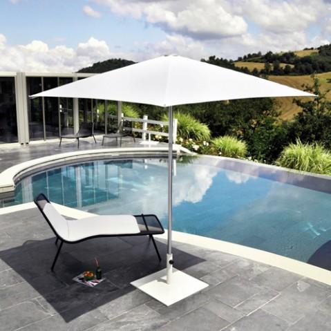 socle pour parasol shade carr blanc de emu. Black Bedroom Furniture Sets. Home Design Ideas