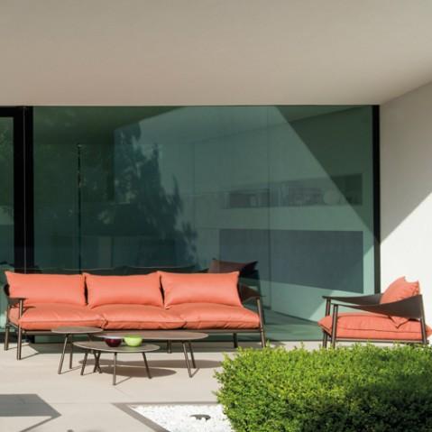 sofa 2 places terramare emu noir gris clair