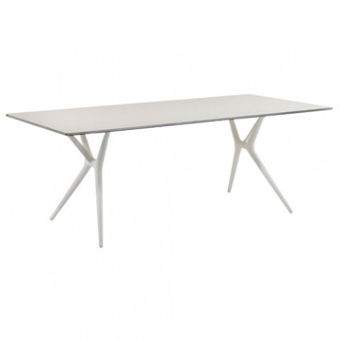Spoon Table Design Kartell 140 x 70 blanc