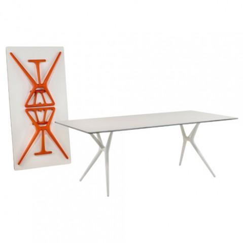 Spoon Table Design Kartell 160 x 80 cm Blanc