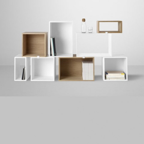 Stacked Etagere Module Medium Design Muuto Frene
