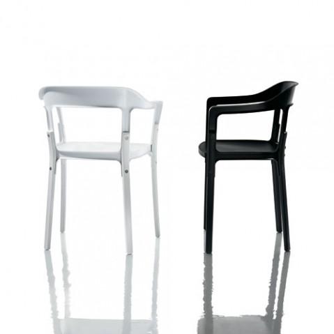 Steelwood chaise Design Magis Hêtre naturel Blanc