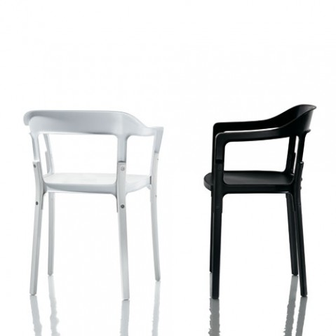 steelwood fauteuil design magis blanc