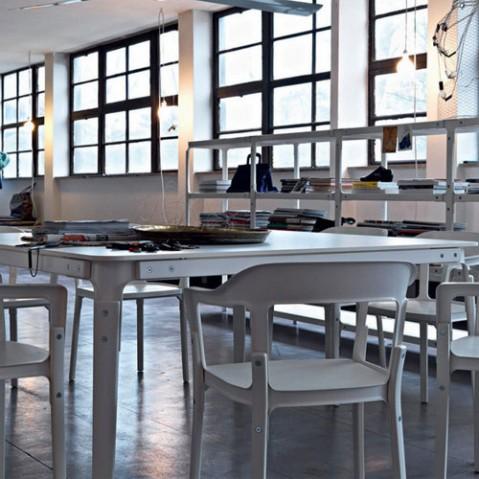Steelwood Table Rectangulaire Design Magis Noir
