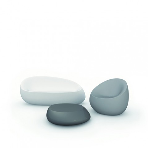 fauteuil stone vondom blanc