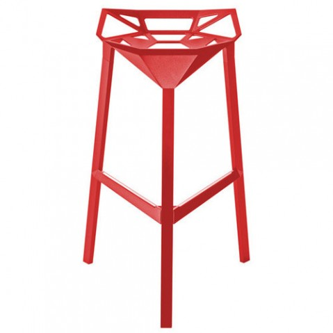 Stool one tabouret magis h67 rouge
