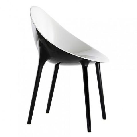 Super Impossible Fauteuil Design Kartell Blanc Noir