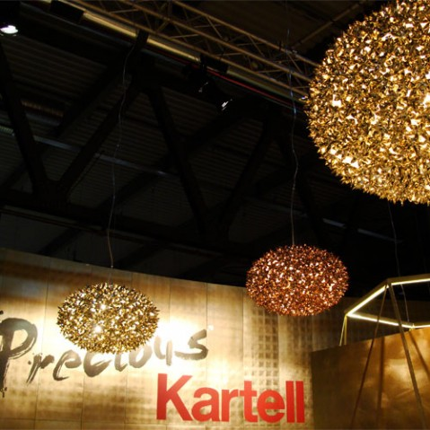 suspension bloom s2 kartell bronze