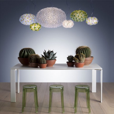 suspension bloom s2 kartell blanc