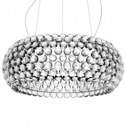 suspension caboche grande led foscarini cristal