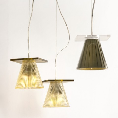 suspension light air kartell ambre