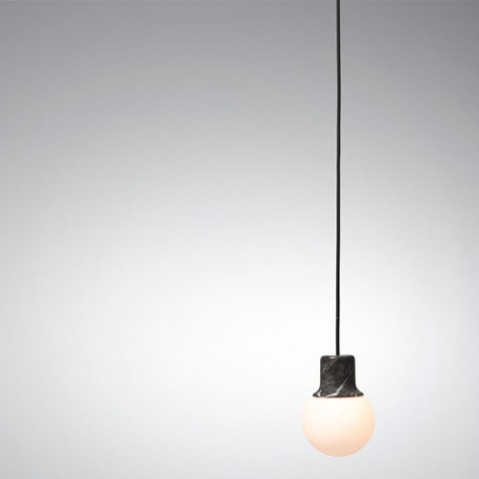 suspension mass light and tradition marbre noir