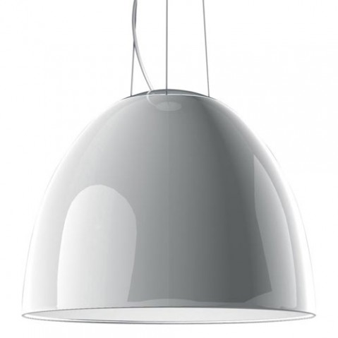 suspension nur gloss halogene artemide blanc