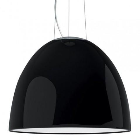 suspension nur gloss halogene artemide noir