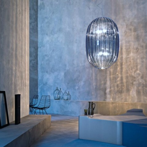 suspension plass media foscarini bleu