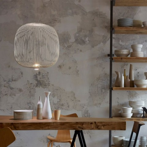 suspension spokes 2 foscarini blanc