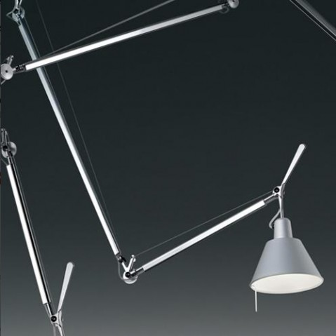 suspension tolomeo decentree artemide aluminium