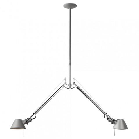 suspension tolomeo deux bras artemide aluminium