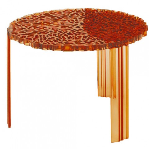 T Table Table Basse H 36 Design Kartell Ambre