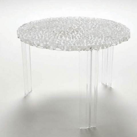 T Table Table Basse H36 Design Kartell Transparent