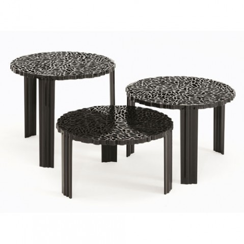 T Table Table Basse H 36 Design Kartell Noir