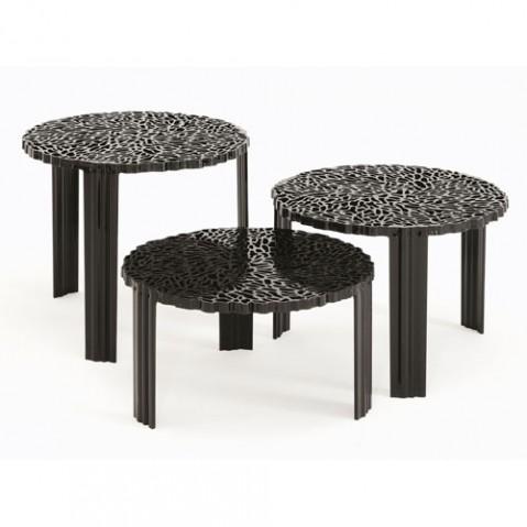 T Table Table Basse H 28 Design Kartell Cristal