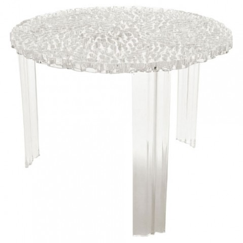 T Table Table Basse H 44 Design Kartell Cristal
