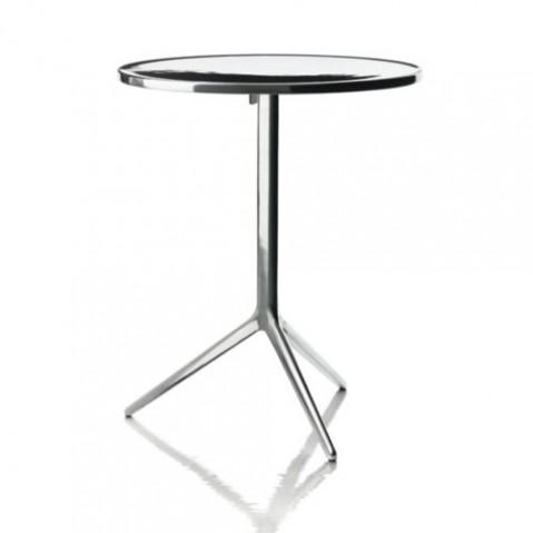 TABLE RONDE PLIANTE CENTRAL, 3 couleurs de MAGIS