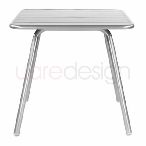 table luxembourg 80 fermob gris metal