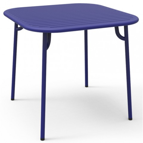 table carree week end petite friture bleu