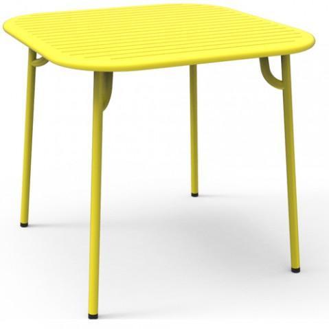 table carree week end petite friture jaune