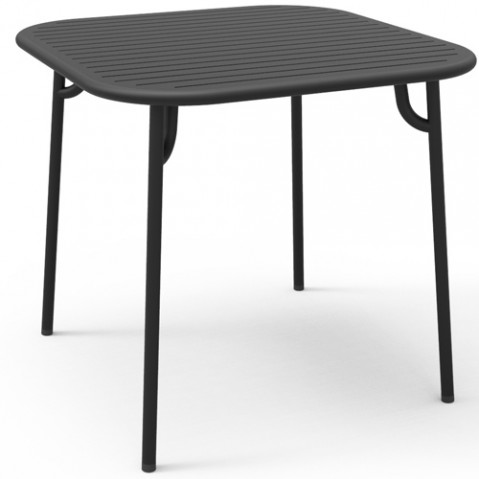 table carree week end petite friture noir